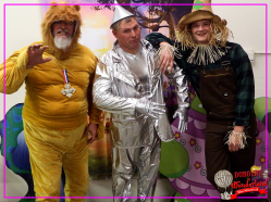 Lion (Jack Bibeau), Tin Man (Scott Foremaster) and Scarecrow (Joseph Jackson)