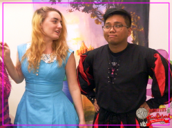 Alice (Hannah Sloan) and Knave of Hearts (E.J Zuniga)